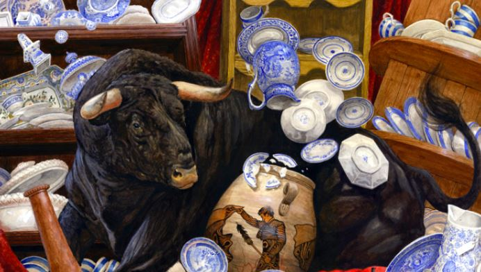 a bull in a china shop