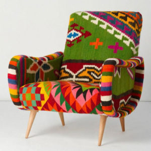 Custom Coloured Upholstered Seat