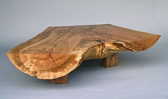 Salvaged Tree Trunk Crafted Table