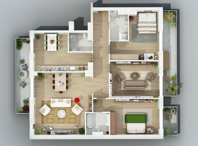 interior design layout plans