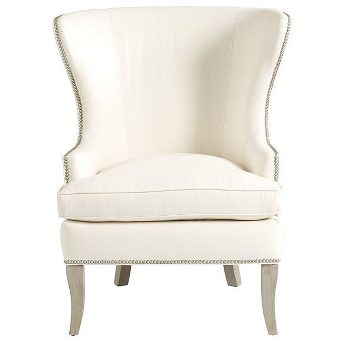 Custom Antique French Wingback Chair