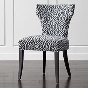 Custom Pattrened Upholstered Chair