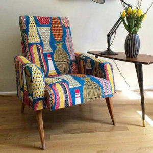 Custom Upholstered Multi Coloured Seat