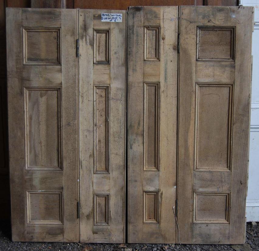 Salvaged wooden victorian shutters